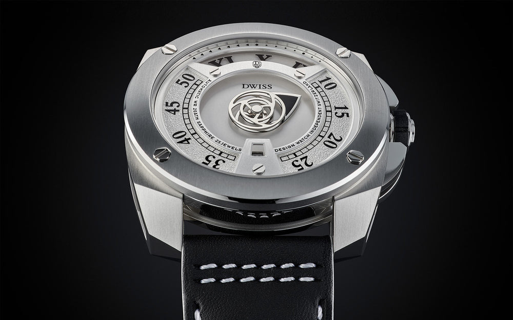 RC1-SW - Design Awarded mysterious time display systems from the microbrand DWISS an automatic swiss luxury watch