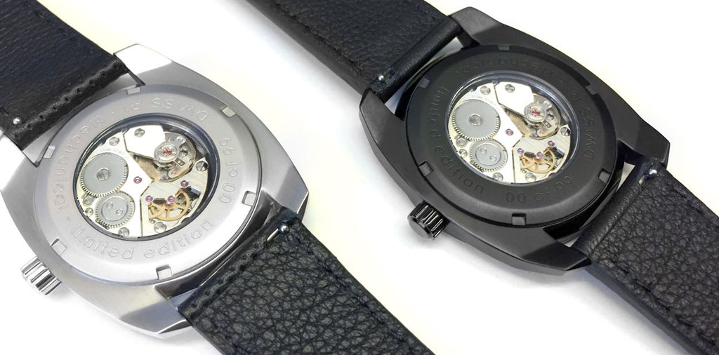 DWISS R1 mechanical ETA 7001 watches caseback