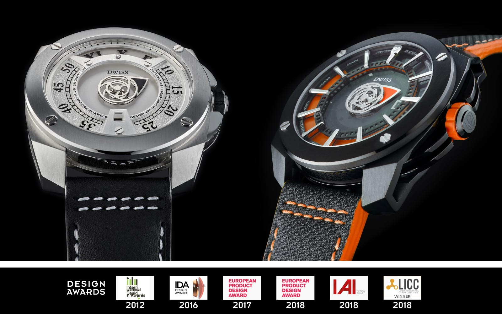 DWISS design awarded watches