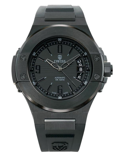 DWISS M1 All Black - Limited Edition, Design Awarded Luxury Swiss Made Watches With Innovative Time Reading Systems