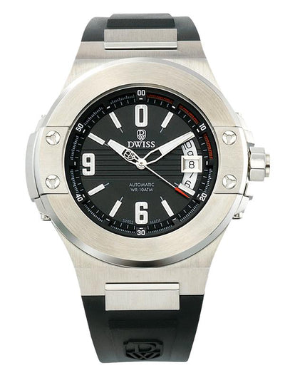 DWISS M1 Silver - Limited Edition, Design Awarded Luxury Swiss Made Watches With Innovative Time Reading Systems
