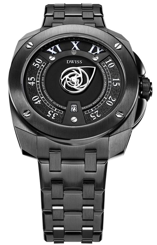 DWISS RC1-BB-Automatic w/ Bracelet - Limited Edition, Design Awarded Luxury Swiss Made Watches With Innovative Time Reading Systems