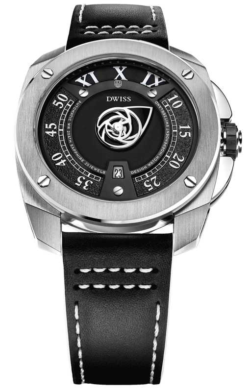 DWISS RC1-SB-Automatic - Limited Edition, Design Awarded Luxury Swiss Made Watches With Mysterious Time Reading Systems