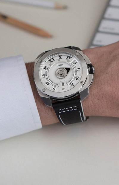 DWISS RC1-SW-Automatic - Limited Edition, Design Awarded Luxury Swiss Made Watches With Innovative Time Reading Systems