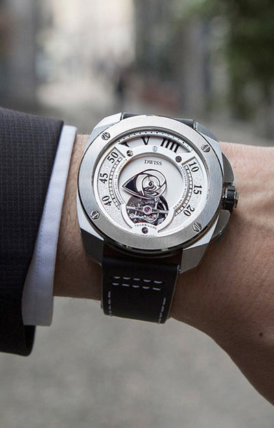 DWISS RC1-SW-Tourbillon - Limited Edition, Design Awarded Luxury Swiss Made Watches With Innovative Time Reading Systems
