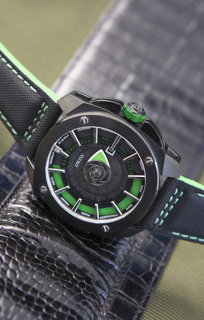 DWISS RS1-BG-Automatic - Limited Edition, Design Awarded Luxury Swiss Made Watches With Innovative Time Reading Systems