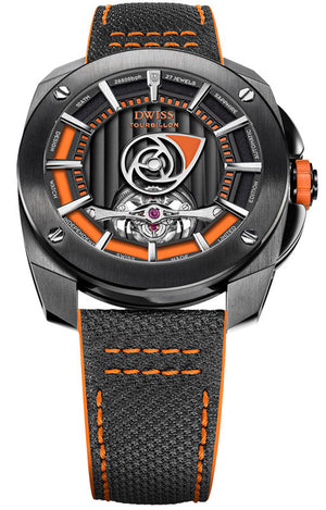 DWISS RS1-BO Tourbillon Limited Edition and design awarded Luxury Swiss Made Watches With Innovative Time Reading Systems