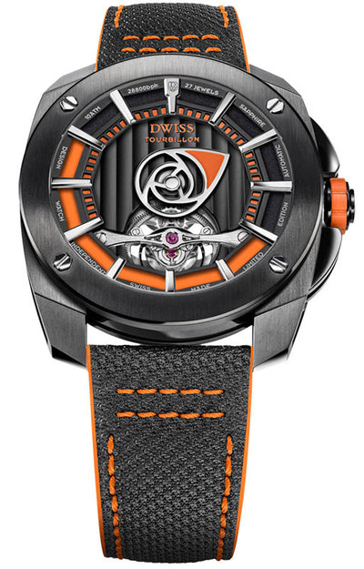 DWISS RS1-BO-Tourbillon - Limited Edition, Design Awarded Luxury Swiss Made Watches With Innovative Time Reading Systems