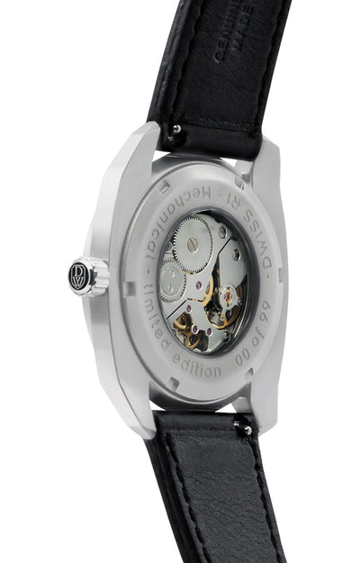DWISS RS1-SB-Mechanical with Italian leather strap - Limited Edition, Luxury Swiss Made mechanical Watch using ETA 7001