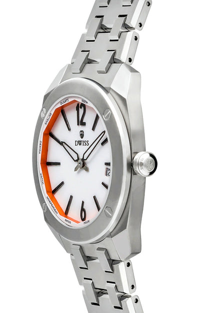 DWISS RS1-SW-Quartz - Limited Edition, Luxury Swiss Made Watches with metal bracelet