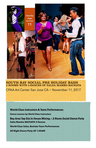 South Bay Pre Holiday Social 2017 ~ Full Pass for All Workshops Classes & 3-Room Dance Party
