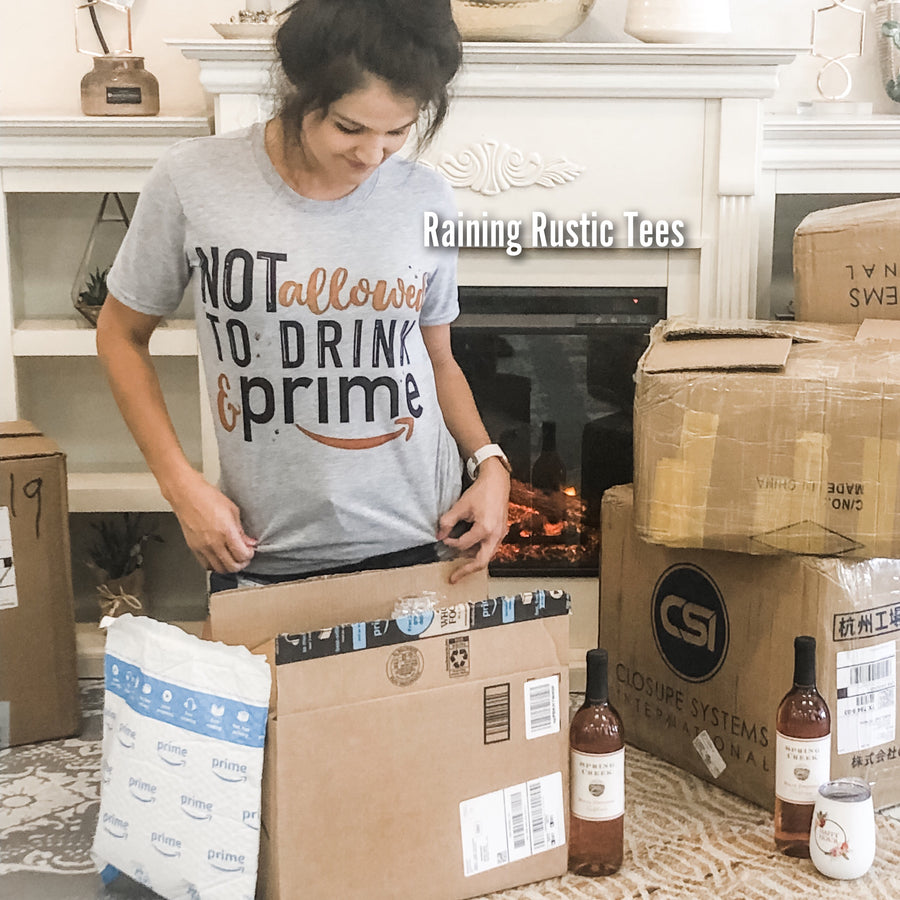 Drink and prime tee