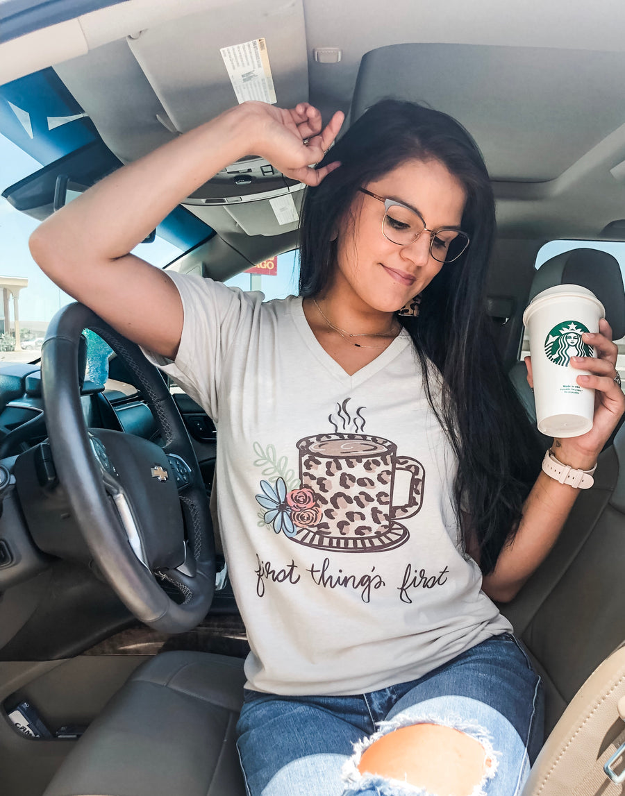 First things first ☕️ tee