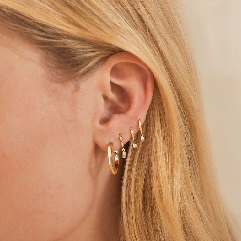 Small Hex Hoops