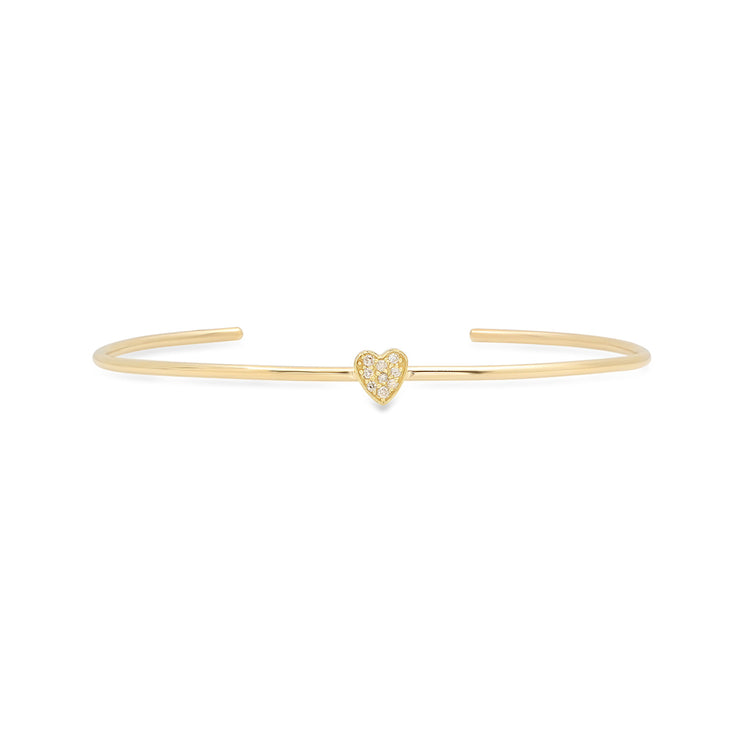 Diamond Mini Heart Cuff