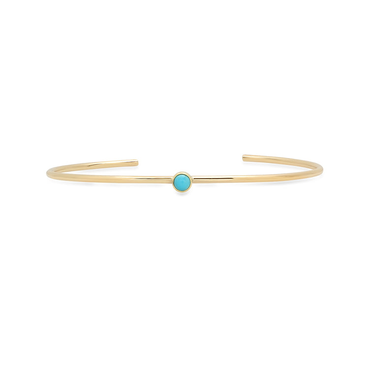 Turquoise Single Bezel Cuff