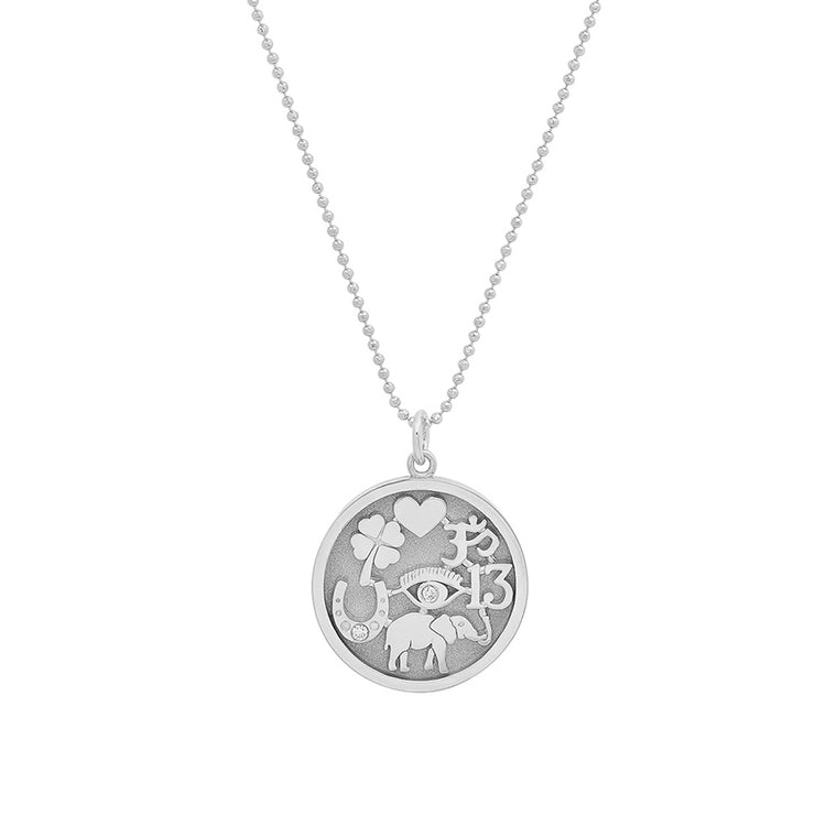White Gold Good Luck Necklace