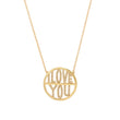 Diamond I Love You Disc Necklace