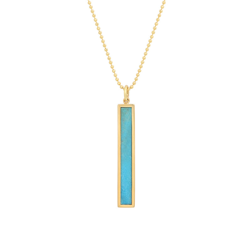 Jennifer meyer turquoise inlay large bar pendant necklace turquoise inlay large bar pendant necklace aloadofball Choice Image