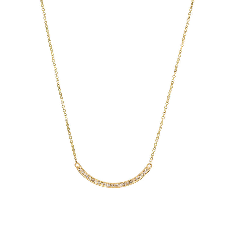 Diamond Curved Stick Necklace