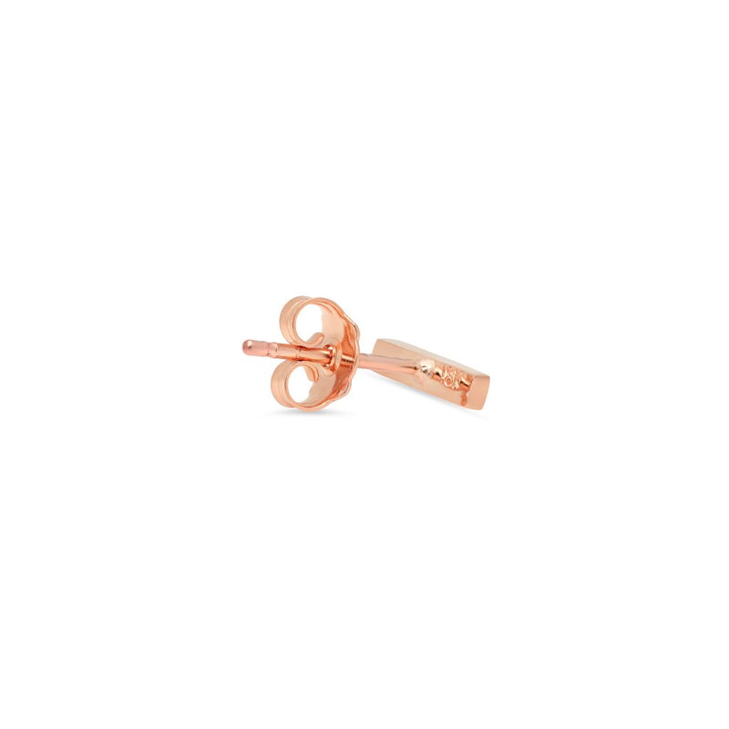 Single Rose Gold Bar Studs