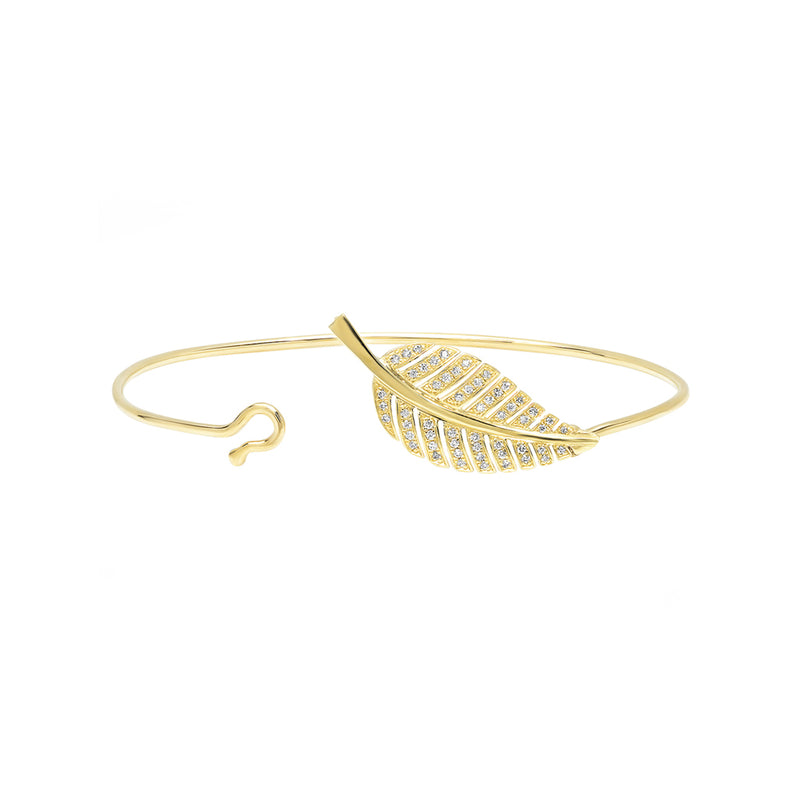 Diamond Small Leaf Bracelet