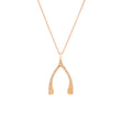 Rose Gold Diamond Wishbone Necklace