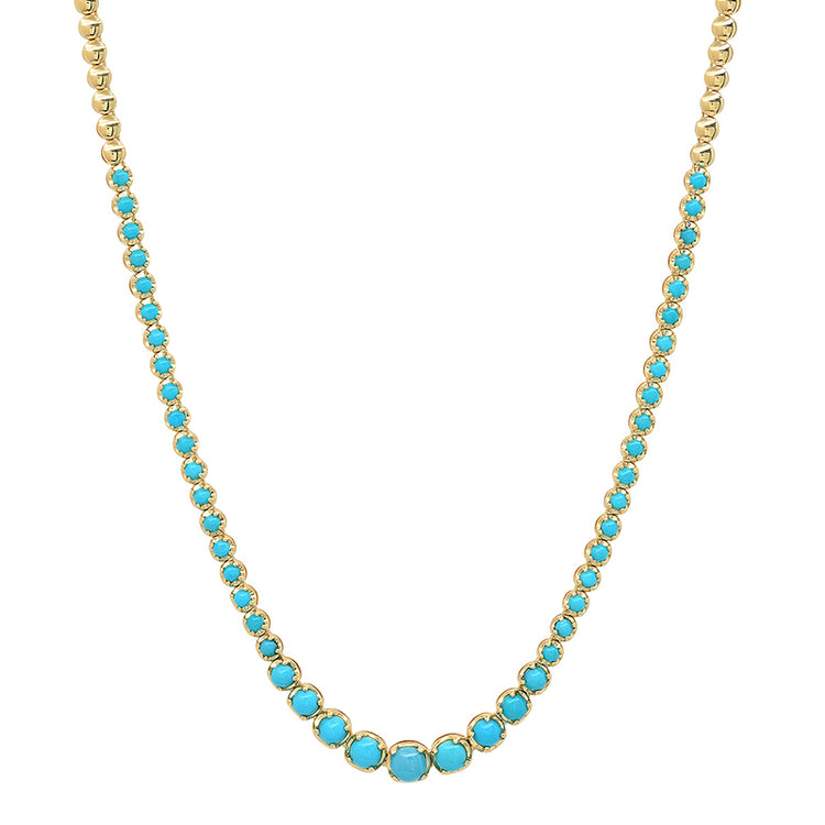 Turquoise Graduated Tennis Necklace