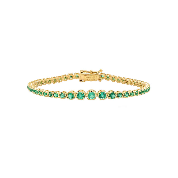 Graduated Emerald Tennis Bracelet