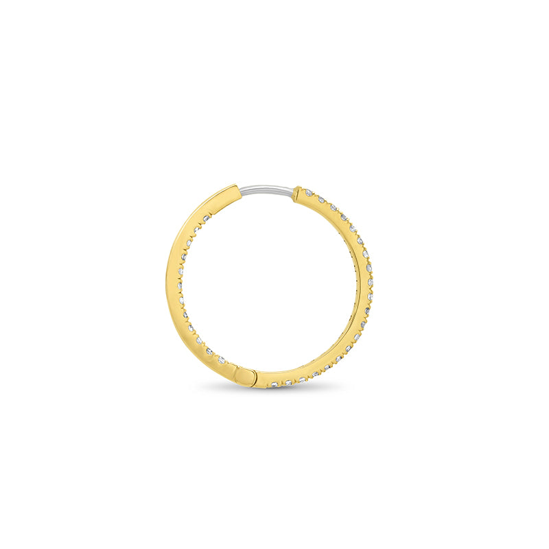 Diamond Small Inside Out Hoops