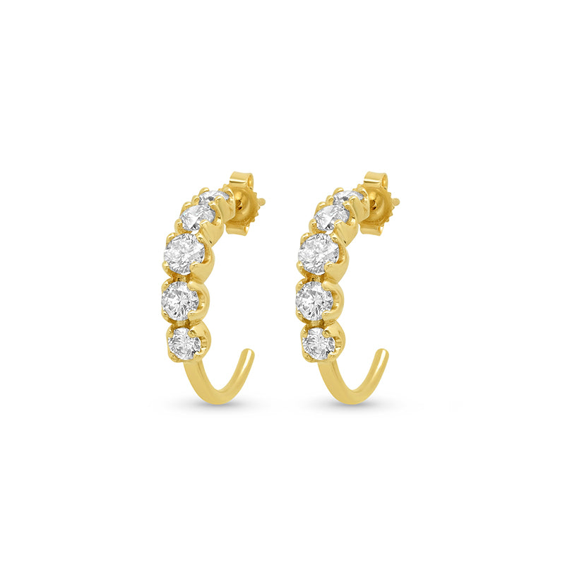 Diamond Small Graduated Hoops