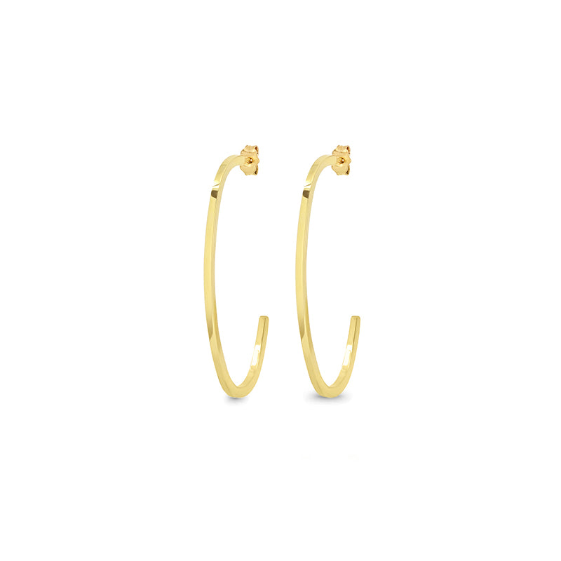 Elongated Edith Link Hoops
