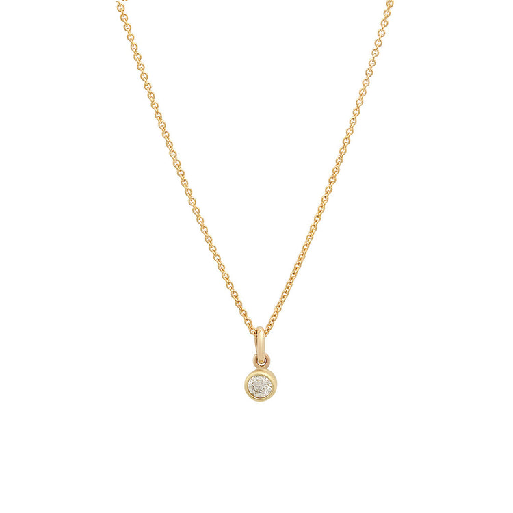 Diamond Single Bezel Necklace