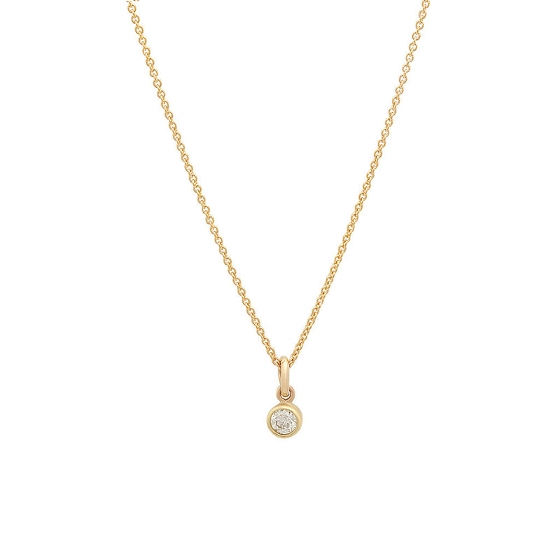 Diamond Single Bezel Necklace 0febe2ca3
