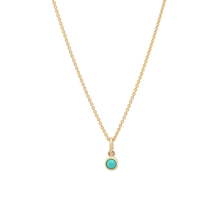 Turquoise Single Bezel Necklace