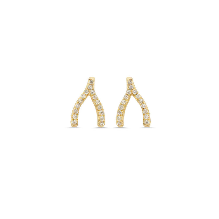Diamond Wishbone Studs