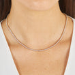 Diamond 3 Prong Tennis Necklace