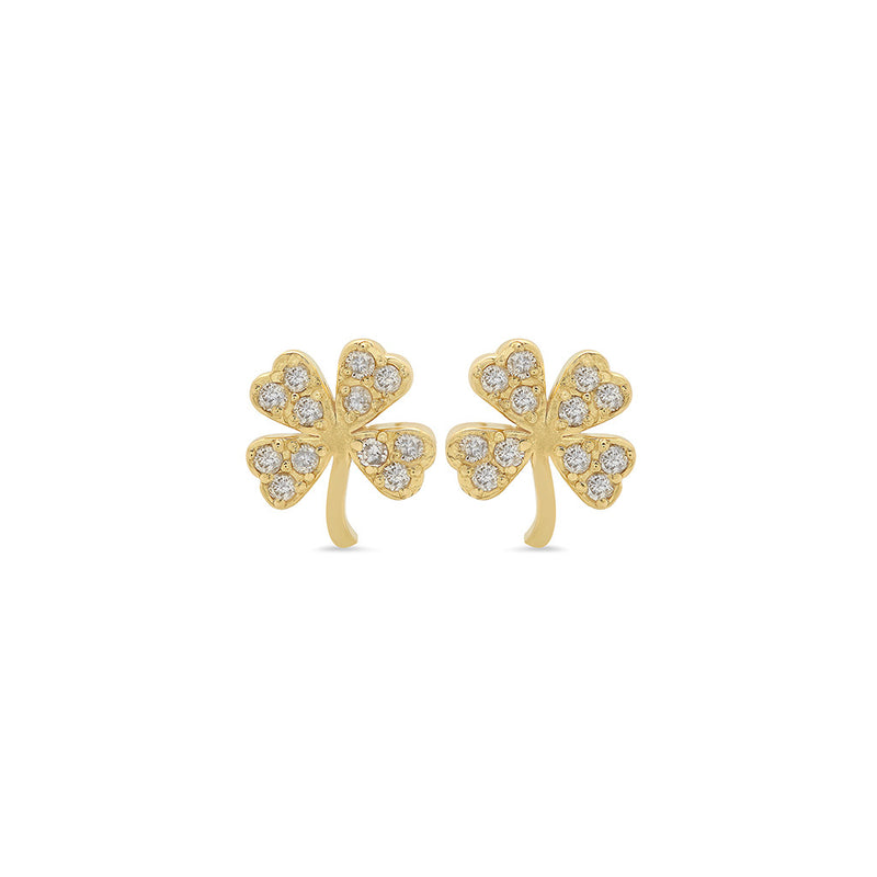 Mini Diamond Clover Studs