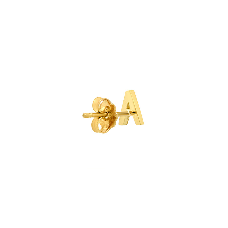 Mini Uppercase Letter Stud
