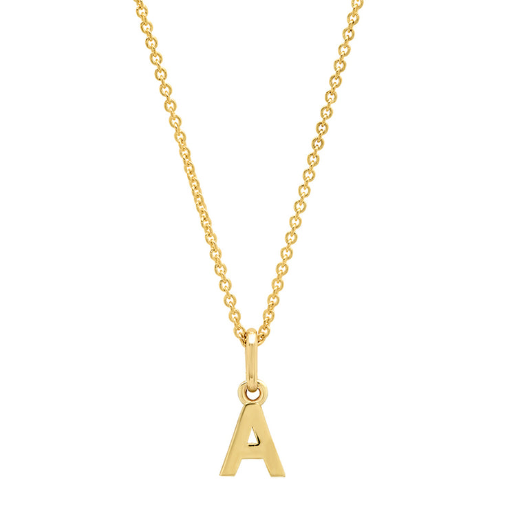 Mini Uppercase Letter Necklace