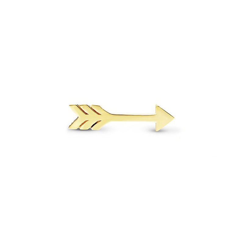 Single Yellow Gold Extra Small Arrow Stud