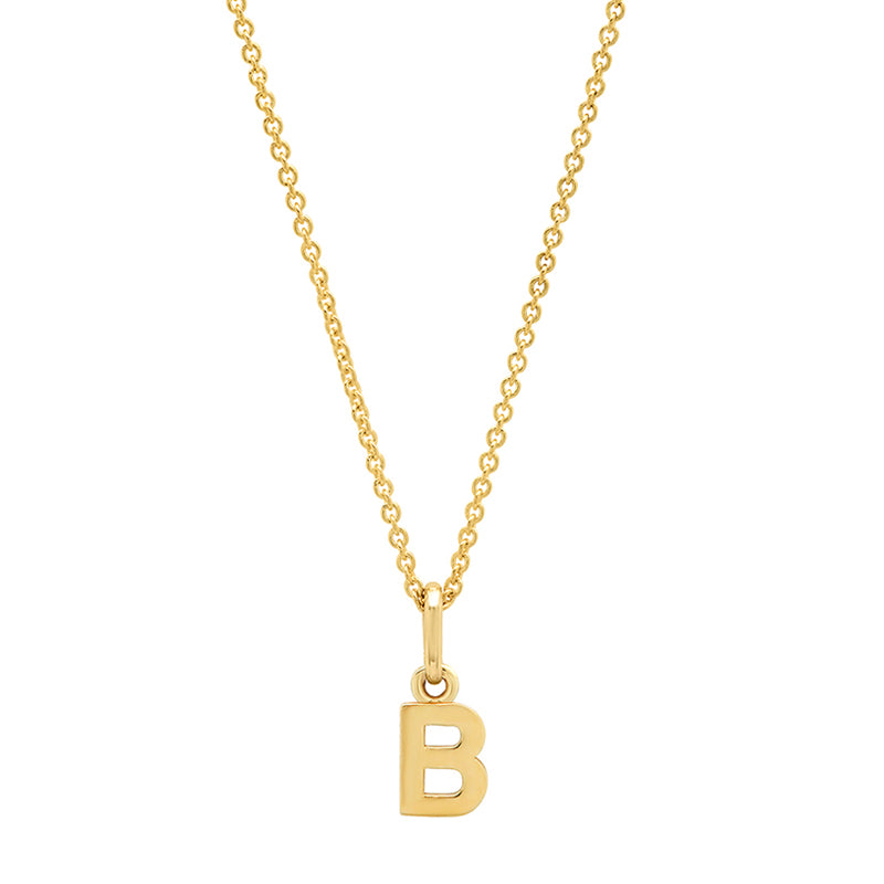 Mini Uppercase Letter Necklace - B