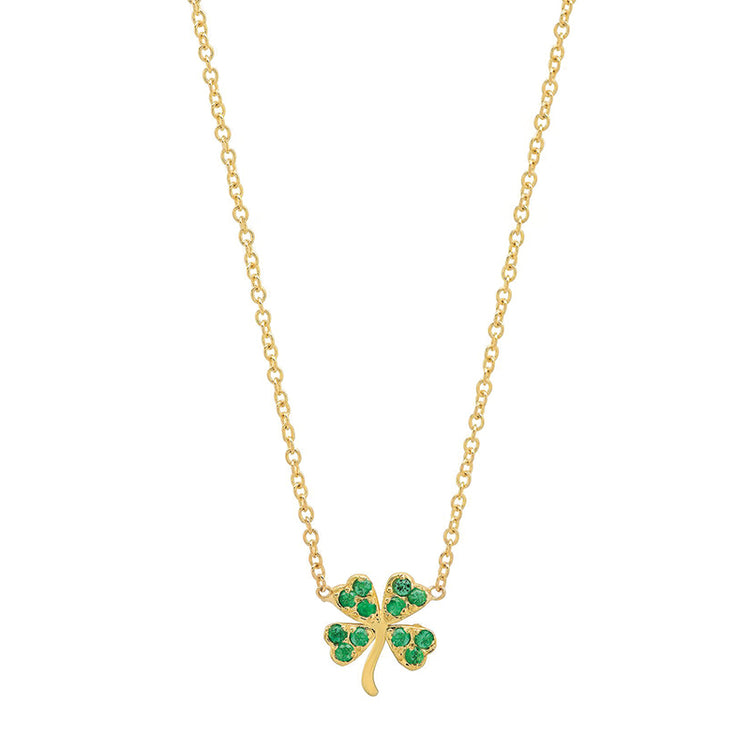 Emerald Mini Clover Necklace