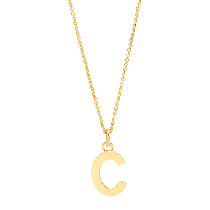 Uppercase Letter Necklace - C