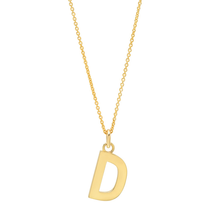 Uppercase Letter Necklace - D