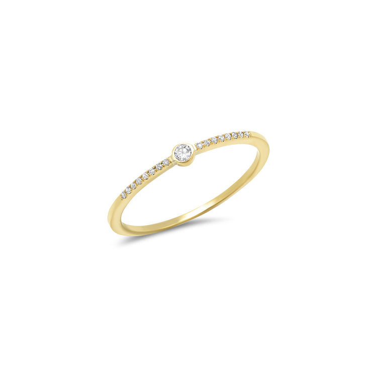 Diamond Mini Bezel Ring
