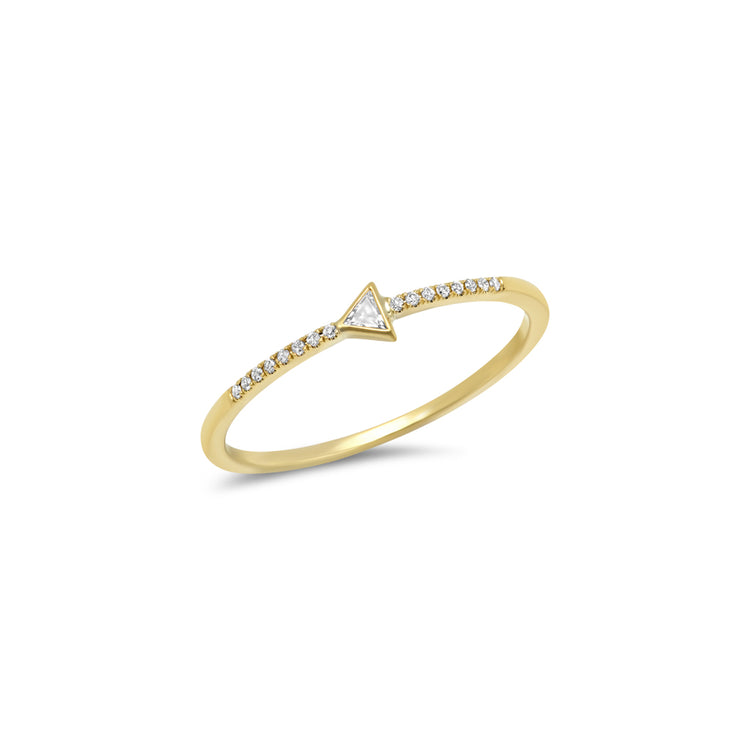Diamond Mini Trillion Ring