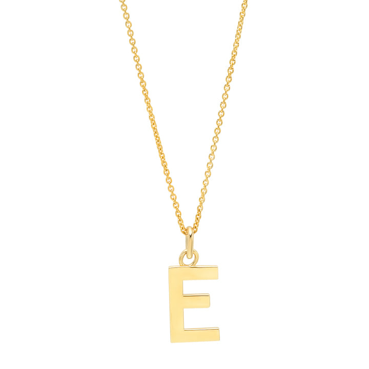 Uppercase Letter Necklace - E