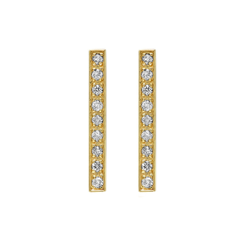 Diamond Long Bar Studs