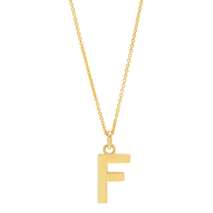 Uppercase Letter Necklace - F